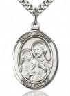 St. Joseph Medal, Sterling Silver, Large