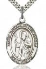 St. Joseph of Arimathea Medal, Sterling Silver, Large