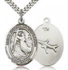 St. Joseph of Cupertino Medal, Sterling Silver, Large