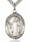St. Joseph the Worker Medal, Sterling Silver, Large