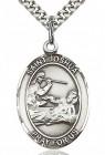 St. Joshua Medal, Sterling Silver, Large