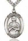St. Kateri Medal, Sterling Silver, Large