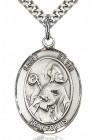 St. Kevin Medal, Sterling Silver, Large
