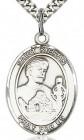 St. Kieran Medal, Sterling Silver, Large
