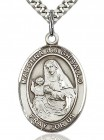 St. Madonna Del Ghisallo Medal, Sterling Silver, Large
