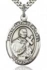 St. Martin de Porres Medal, Sterling Silver, Large