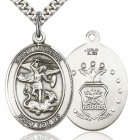 St. Michael Air Force Medal, Sterling Silver, Large
