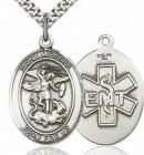 St. Michael EMT Medal, Sterling Silver, Large