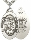 St. Michael Navy Medal, Sterling Silver