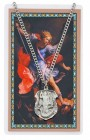 St. Michael Shield Pendant with Police Officer Prayer Card Set, Large