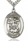 St. Michael the Archangel Medal, Sterling Silver, Large