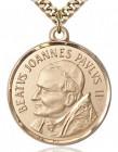 St. Pope John Paul II Medal, Gold Filled