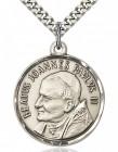 St. Pope John Paul II Medal, Sterling Silver