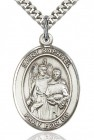 St. Raphael the Archangel Medal, Sterling Silver, Large