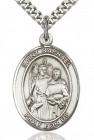 St. Raphael the Archangel Medal, Sterling Silver, Large