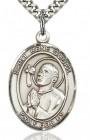 St. Rene Goupil Medal, Sterling Silver, Large