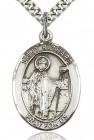 St. Richard Medal, Sterling Silver, Large