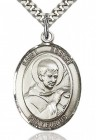 St. Robert Bellarmine Medal, Sterling Silver, Large