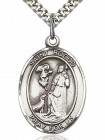 St. Rocco Medal, Sterling Silver, Large