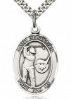St. Sebastian Golf Medal, Sterling Silver, Large