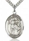 St. Sebastian Medal, Sterling Silver, Large