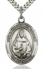 St. Theodore Guerin Medal, Sterling Silver, Large
