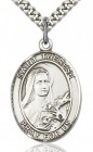 St. Therese of Lisieux Medal, Sterling Silver, Large