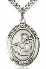 St. Thomas Aquinas Medal, Sterling Silver, Large
