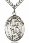 St. Vincent Ferrer Medal, Sterling Silver, Large