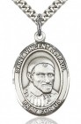 St. Vincent de Paul Medal, Sterling Silver, Large