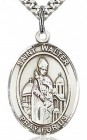 St. Walter of Pontnoise Medal, Sterling Silver, Large