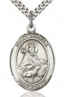 St. William of Rochester Medal, Sterling Silver, Large
