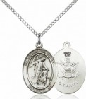 Women's Pewter Oval Guardian Angel Army Medal