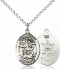 Women's Pewter Oval St. Michael Army Medal