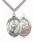 Women's Pewter Oval St. Sebastian Softball Medal