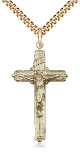 14k Gold Filled Crucifix Pendant [BL4739]