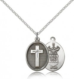 Air Force Cross Pendant, Sterling Silver [BL5020]