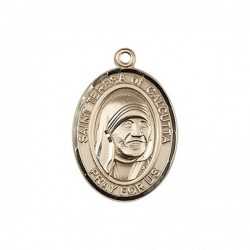 St. Teresa of Calcutta Medal, 14 Karat Gold, Medium [BL0029]