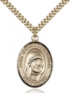 St. Teresa of Calcutta Medal, Gold Filled, Large [BL0031]