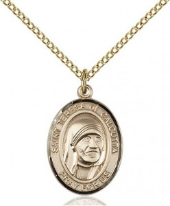 St. Teresa of Calcutta Medal, Gold Filled, Medium [BL0032]