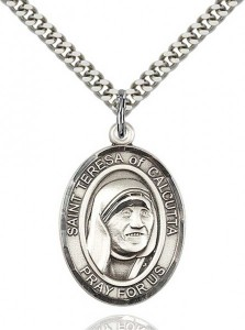 St. Teresa of Calcutta Medal, Sterling Silver, Large [BL0034]