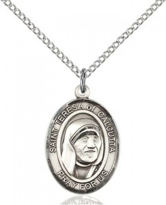 St. Teresa of Calcutta Medal, Sterling Silver, Medium [BL0035]