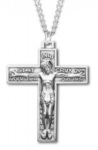 Men's Carthusian Order Necklace, Sterling Silver with Chain Options [HMR0831]