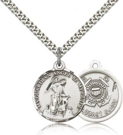 Coast Guard Guardain Angel Medal, Sterling Silver [BL4441]