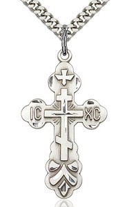 Cross Pendant, Sterling Silver [BL4353]