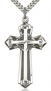 Cross Pendant, Sterling Silver [BL4720]
