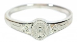 First Communion Sterling Silver Miraculous Medal Ring [FCR0001]
