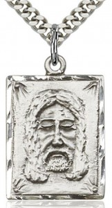 Holy Face Medal, Sterling Silver [BL4133]