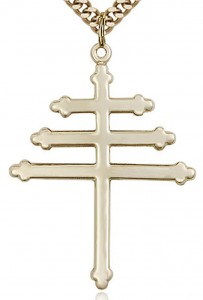 Marionite Cross Pendant, Gold Filled [BL4113]