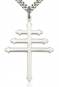 Maronite Cross Pendant, Sterling Silver [BL4115]